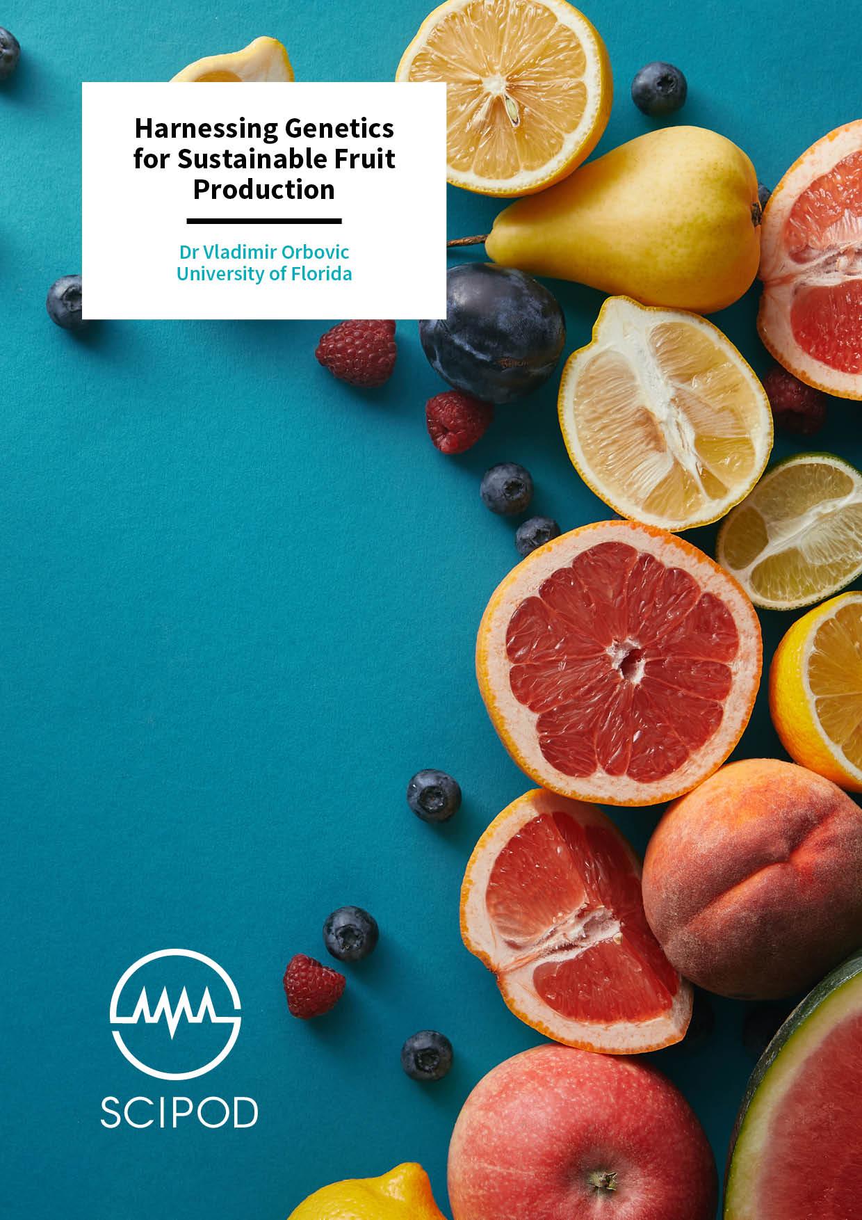 Harnessing Genetics for Sustainable Fruit Production – Dr Vladimir Orbovic, University of Florida