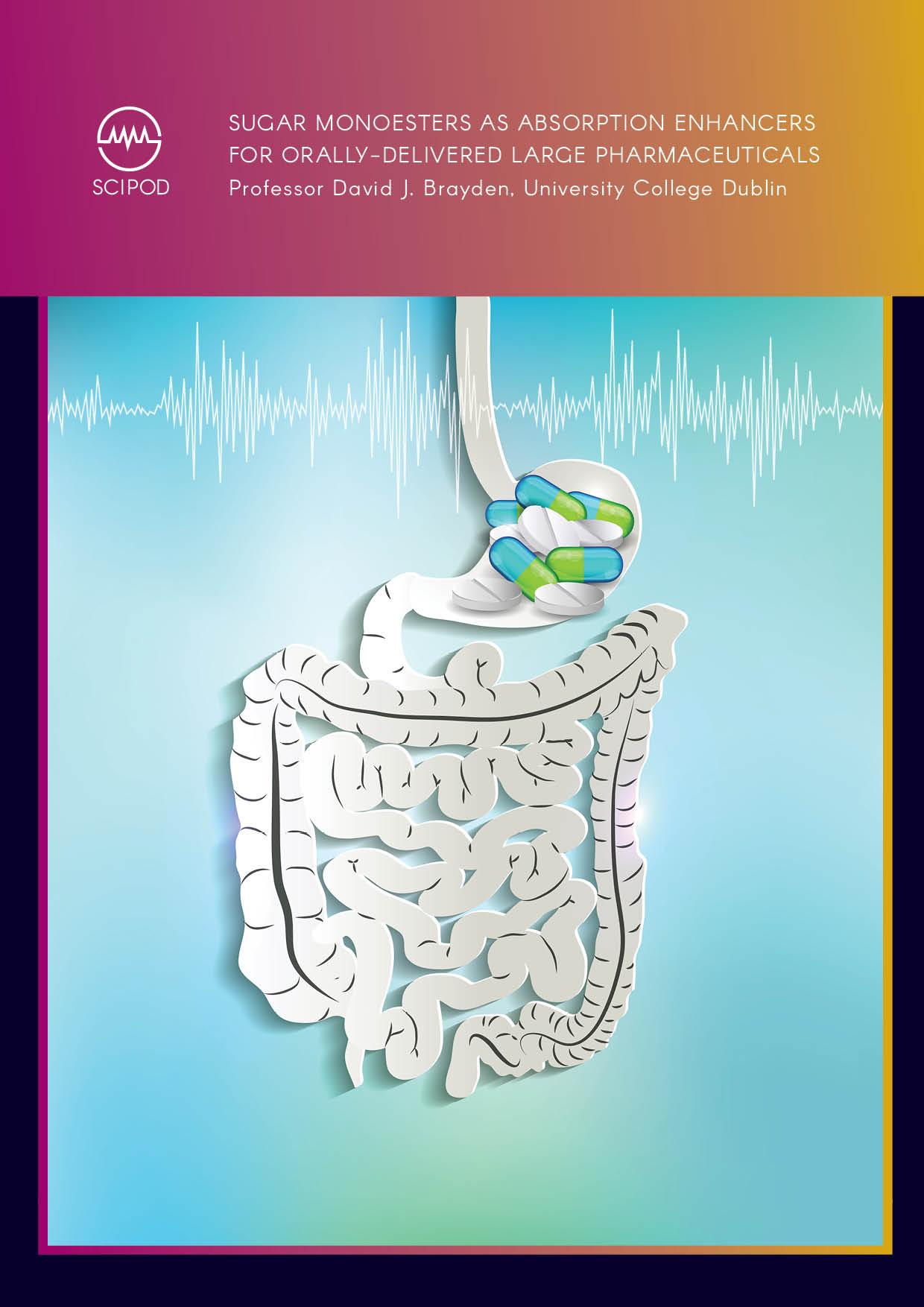Sugar Monoesters as Absorption Enhancers for Orally-Delivered Large Pharmaceuticals – Professor David J. Brayden, University College Dublin